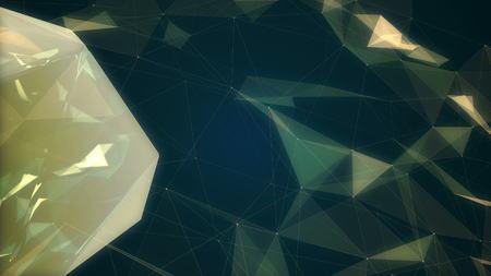 mutation: Fractal plexus abstract 3d illustration
