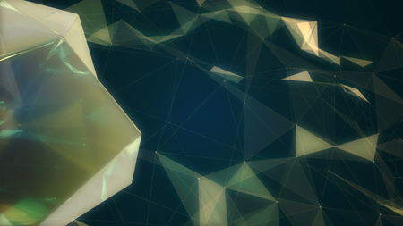 Fractal plexus abstract 3d illustration