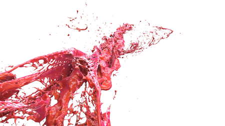 liquid explosion into one splash 3d illustration Stock Photo