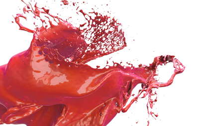 slow motion: liquid explosion into one splash 3d illustration Stock Photo
