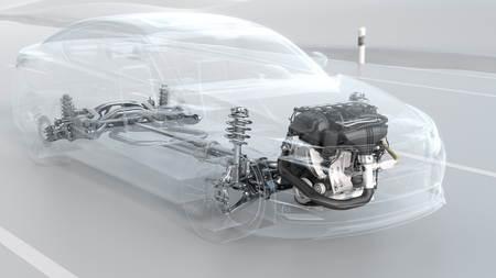 운전 중에 도시 차 구조 개요. 3D 그림