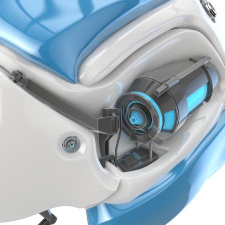 robotic: concept robotic head 3d illustration