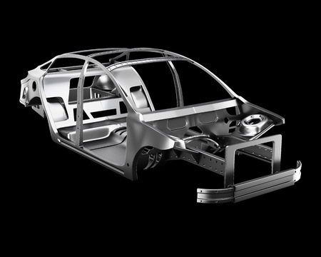 Car Frame Isolated. 3d illustration 写真素材