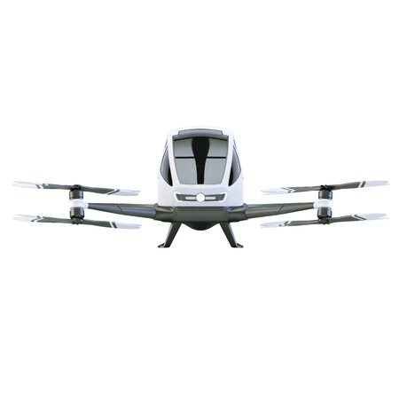 QuadCopter for humans isolated on white. 3d illustration