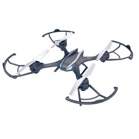 Drone quadrocopter. New tool for aerial photo and video. 3d illustration Stock Photo