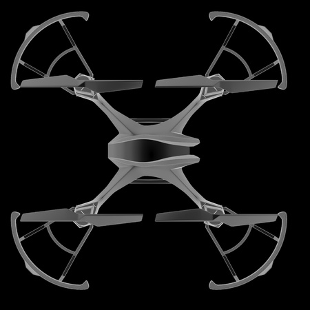 Drone quadrocopter. New tool for aerial photo and video. 3d illustration Reklamní fotografie