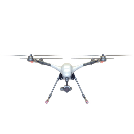 small business: Professional Drone isolated on background. 3d illustration Stock Photo