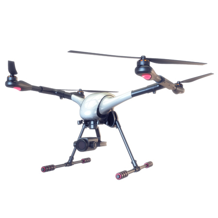 Professional Drone isolated on background. 3d illustration Stock Photo
