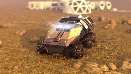 Mars Rover Space Travel