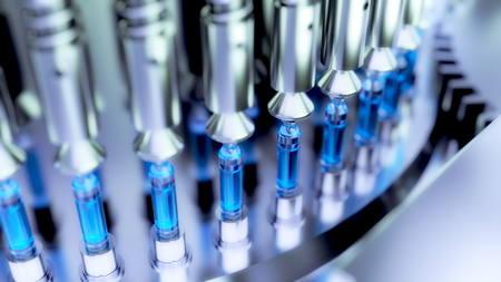 Pharmaceutical Optical Ampoule  Vial Inspection Machine. 3d illustration