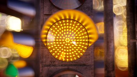 Traffic light in modern city. 3d illustration