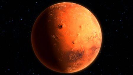 Extra High Resolution of MARS planet 8k 3d illustration