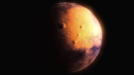 MARS PLANET 8k 3d rendering 写真素材