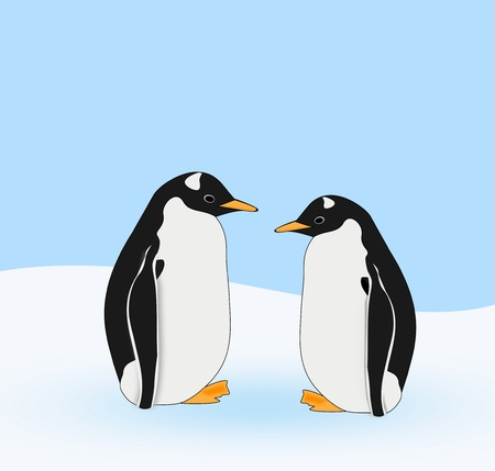 seem: Two penguins who seem to have a conversation.