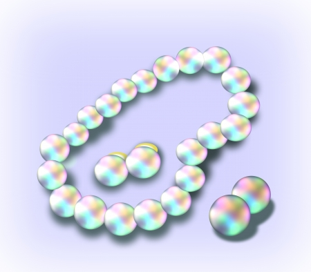 Necklace of pearls and earrings that match. Stock Photo - 14391184
