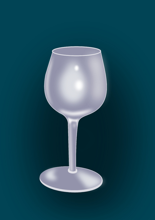 intoxicating: An empty wine glass on a dark background.