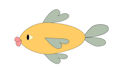 funny fish: Illustration of a funny fish over a white background.