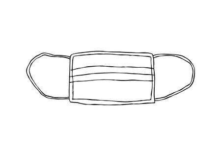 Simple hand drawn mask illustration