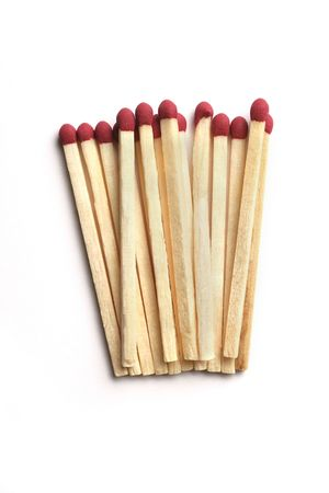 Wooden Matchsticks on white background Stock Photo - 2181018