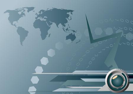 Bank Światowy: Mapa Ziemi High-tech. Clipart