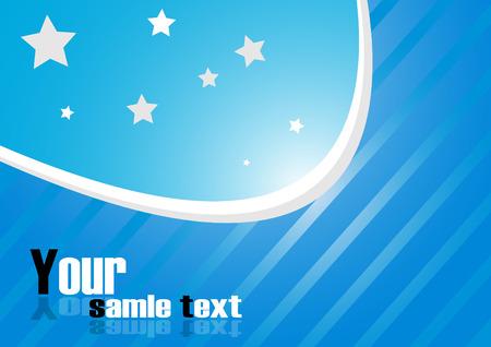 blue background. Clip-art Stock Vector - 8131967