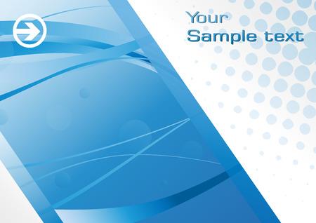 Eps10 Hi-tech blue background. Clip-art Stock Vector - 8131981