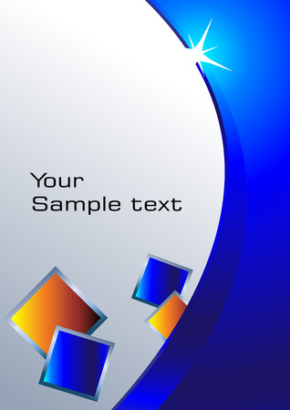 advertise: blue background. Clip-art