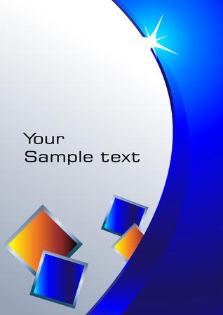 smooth curve design: fondo azul. Im�genes predise�adas Vectores