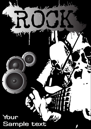 Rock festival poster. Clip-art Vector