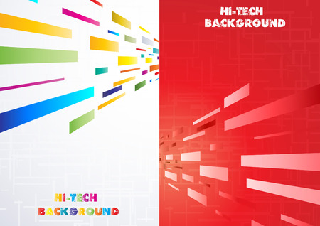 Hi-tech Multi-coloured background. Clip-art Vector