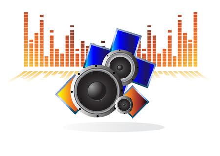 speaker box: speakers. Clip-art