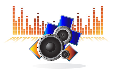 dj equipment: speakers. Clip-art