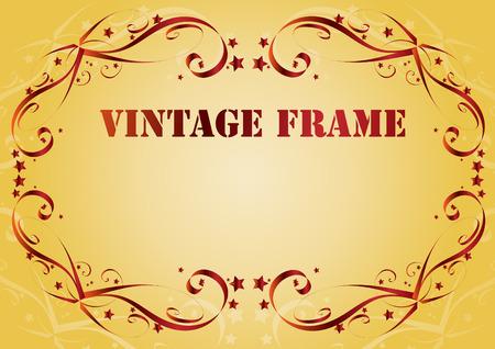 Vintage frame. background. Clip-art Stock Vector - 8660594