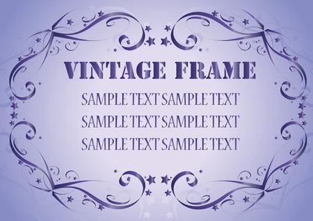 Vintage frame. Clip-art Vector