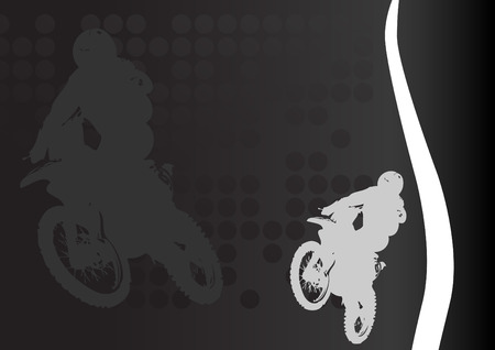 extremesport: Racing vector. Clip-art