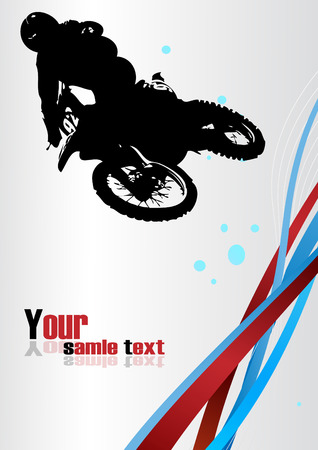 motorcycle accidents: Racing . Clip-art