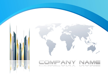 blank brochure: Abstract corporate background. Clip-art
