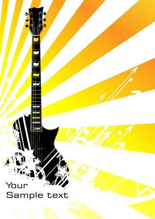 rock concert: musica in background. Clip art