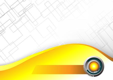 Abstract Hi-tech yellow background. Clip-art Stock Vector - 8660580