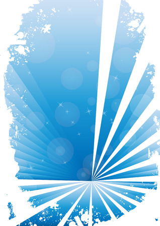 Blue grunge banner with white background. Clip-art Vector