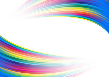 rainbow print: Rainbow colorful advertisement. Clip-art Illustration