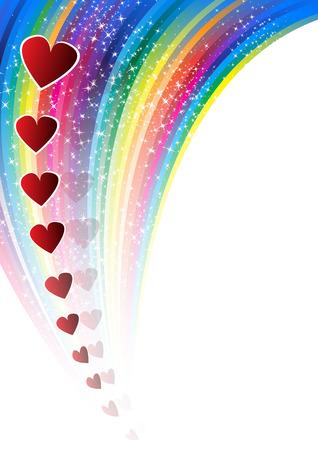 passion flower: Valentines  background. Clip-art
