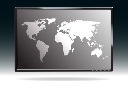 flat screen tv: LCD monitor  Illustration