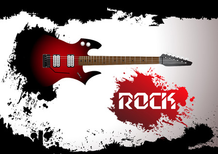 guitar: rock guitar background. Clip-art Illustration