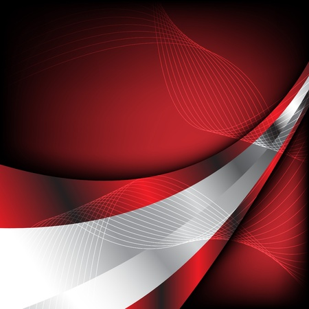 red wave: Abstract red background. Clip-art