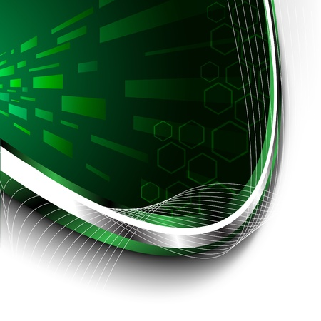 Bright green technology background. Clip-art Vector