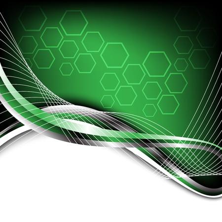 ハイテクの緑の背景。クリップ アート