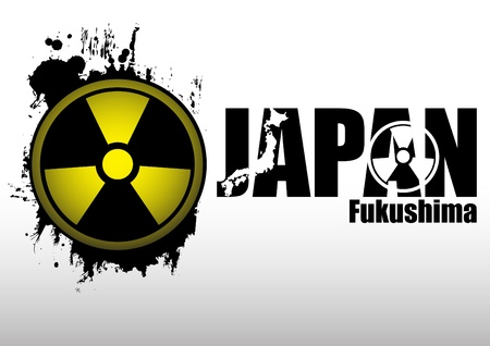 Abstract composition - concept: Radiation in Japan. Clip-art Vector