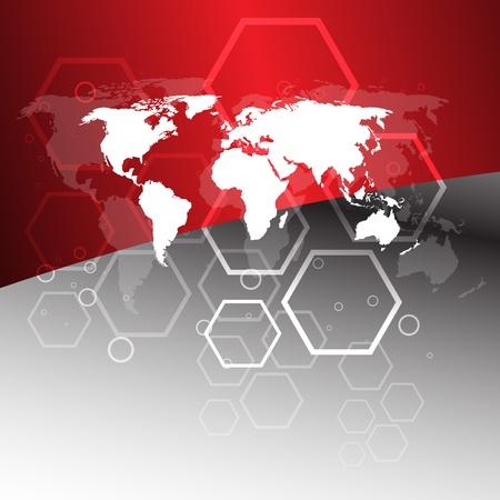 Wereldwijd bedrijfsconcept. Illustraties