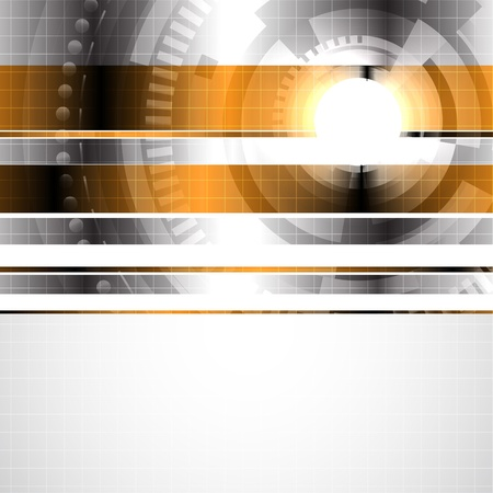 blank brochure: Abstract hi-tech background. Clip-art